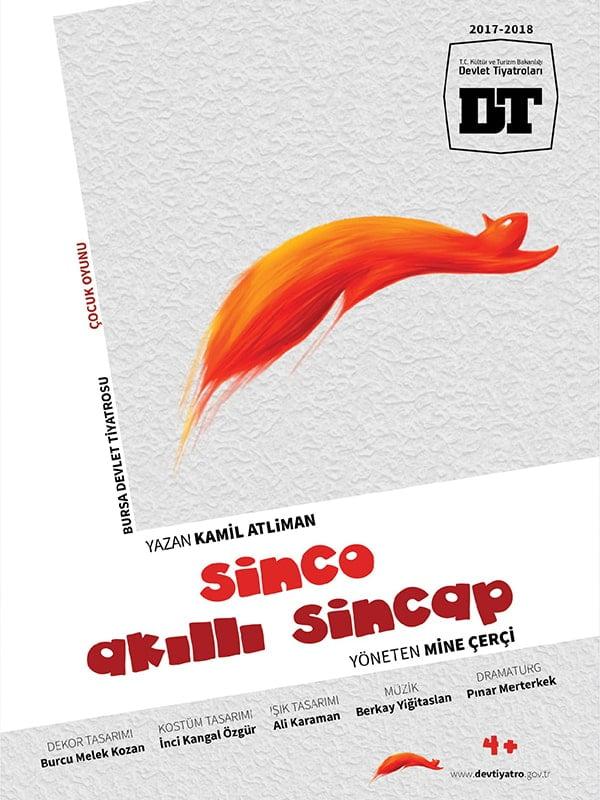 Online Çocuk tiyatrosu Sinco akıllı sincap posteri